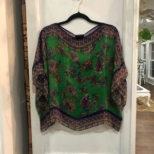 Ella Moss green dolman style top size small